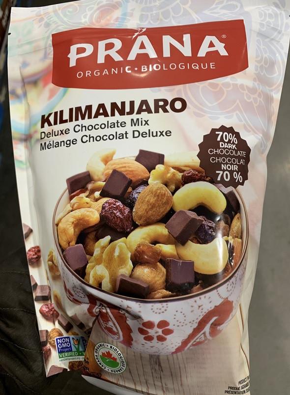 Costco Prana Organic Kilimanjaro Deluxe Chocolate Mix