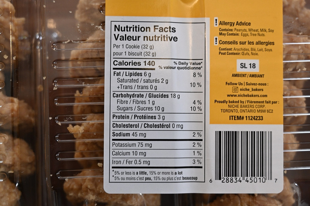 Costco Simply No Baked Peanut Butter Cookies Nutrition