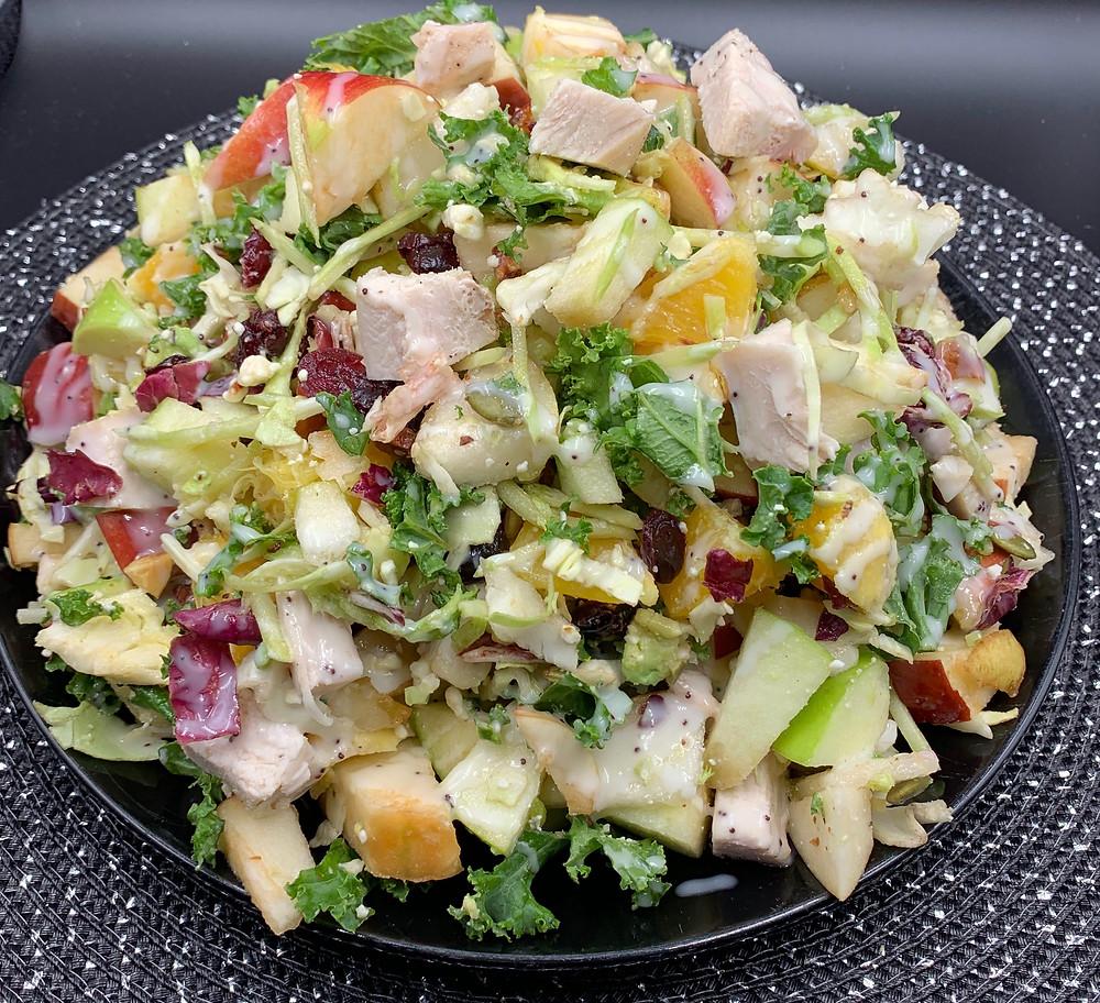 Costco Eat Smart 7 Superfoods Sweet Kale Salad Kit Apple Pear Version