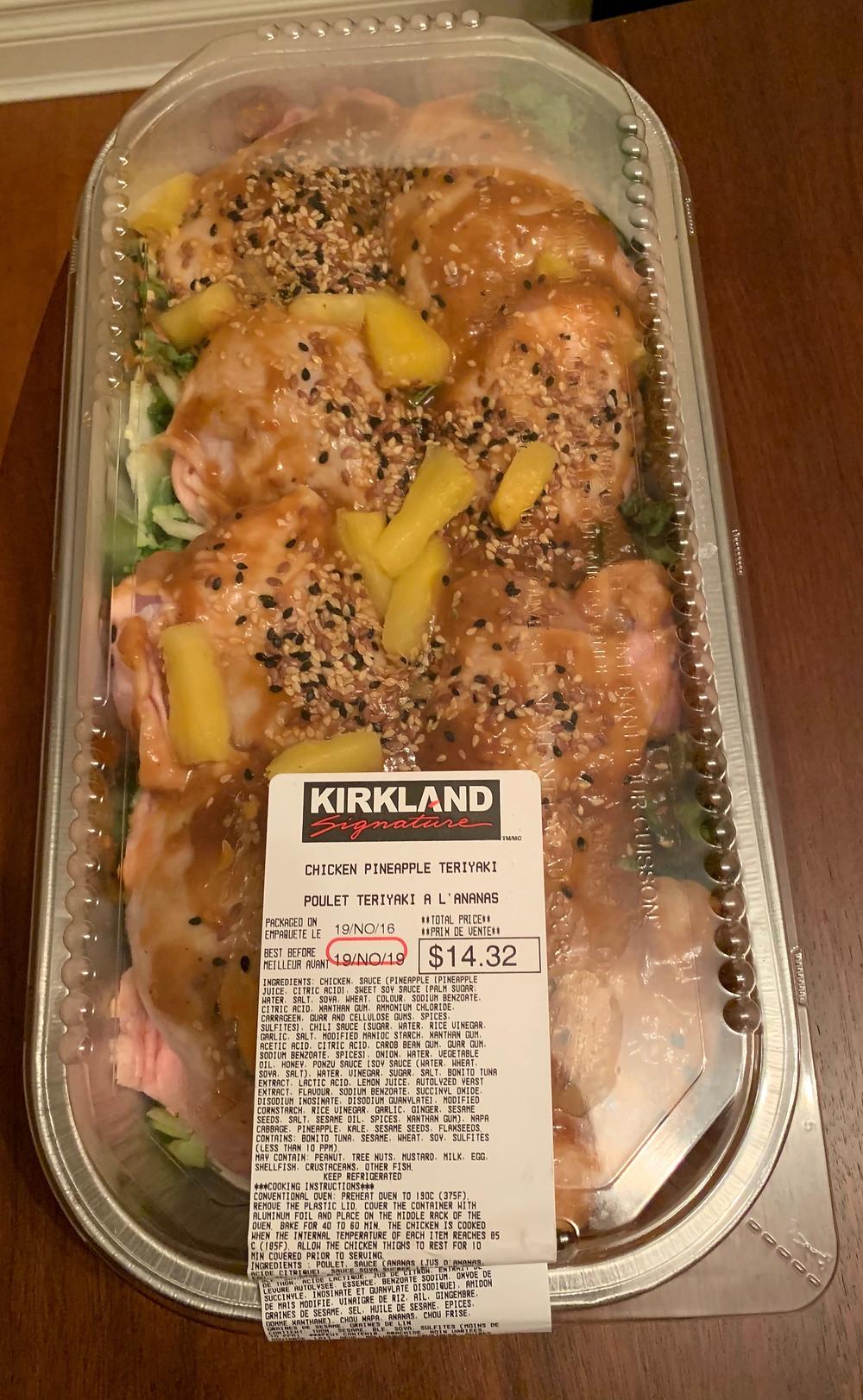 Costco Kirkland Signature Chicken Pineapple Teriyaki