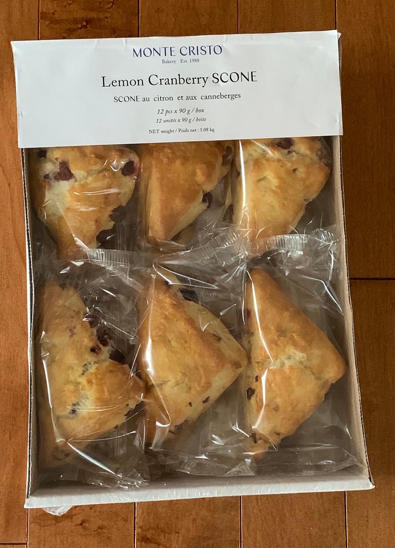 Costco Monte Cristo Bakery Lemon Cranberry Scones