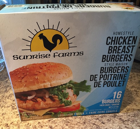 Costco Sunrise Farm Chicken Burgers