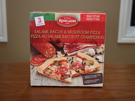 Costco Roncadin Salami, Bacon & Mushroom Frozen Pizza Review