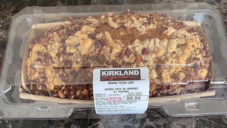 Costco Kirkland Signature Banana Pecan Loaf