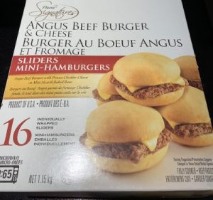 Pierre Signatures Angus Beef Burger & Cheese Sliders