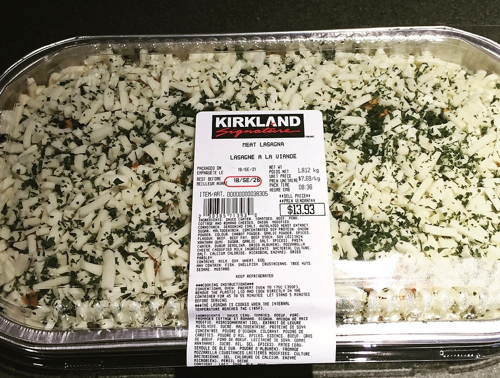 Kirkland Signature Meat Lasagna from Costco