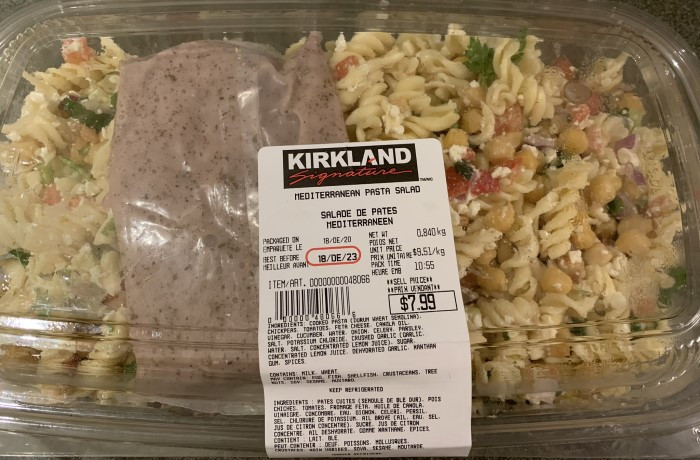 Costco Kirkland Signature Mediterranean Pasta Salad