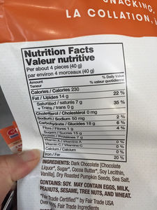 Costco barkTHINS Snacking Chocolate Nutrition ...