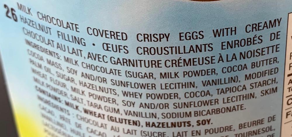 Costco Ferrero Eggs Ingredients