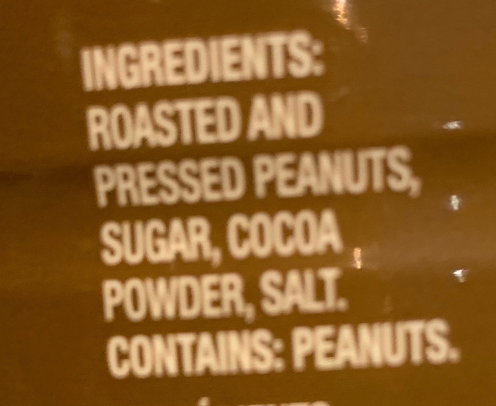 Costco Kraft Chocolate Peanut Butter Powder Ingredients