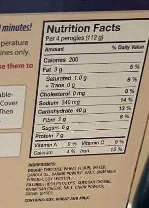 Costco Haleway Foods LTD Premium Perogies
