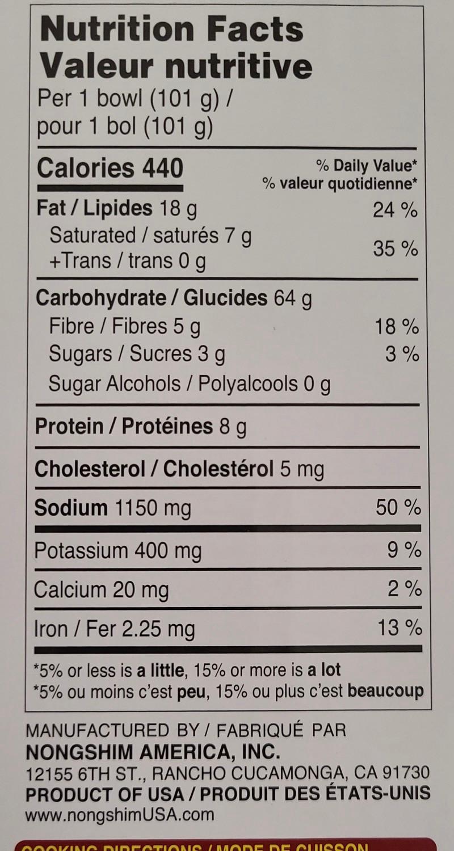 Costco Tonkotsu Ramen Nutrition