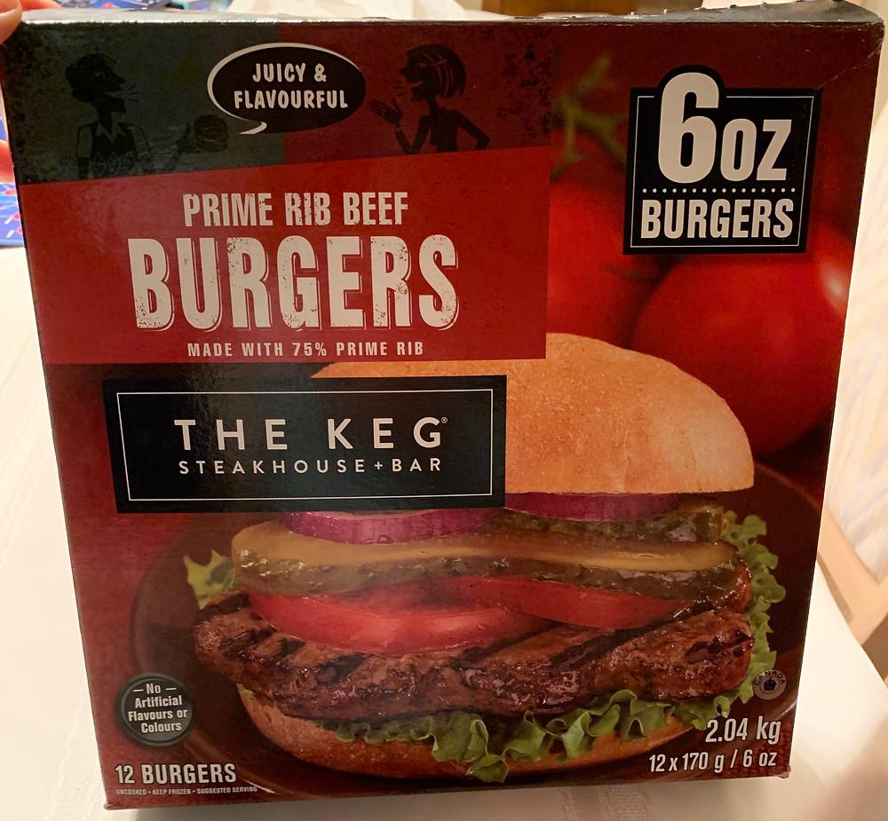Costco The Keg Prime Rib Beef Burgers