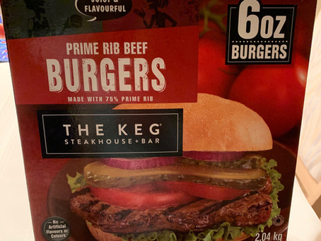 Costco The Keg Prime Rib Beef Burgers Review
