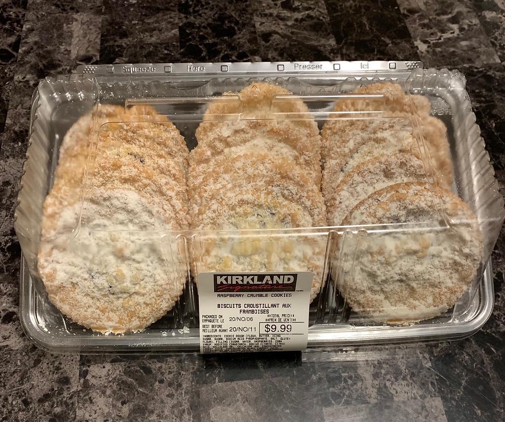 Costco Kirkland Signature Raspberry Crumble Cookies