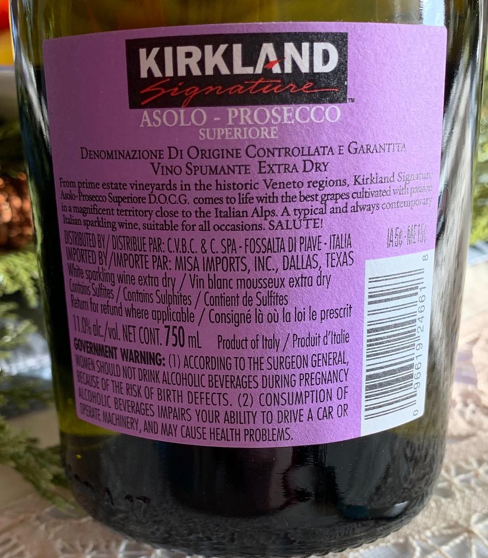 Costco Kirkland Signature Asolo Prosecco!
