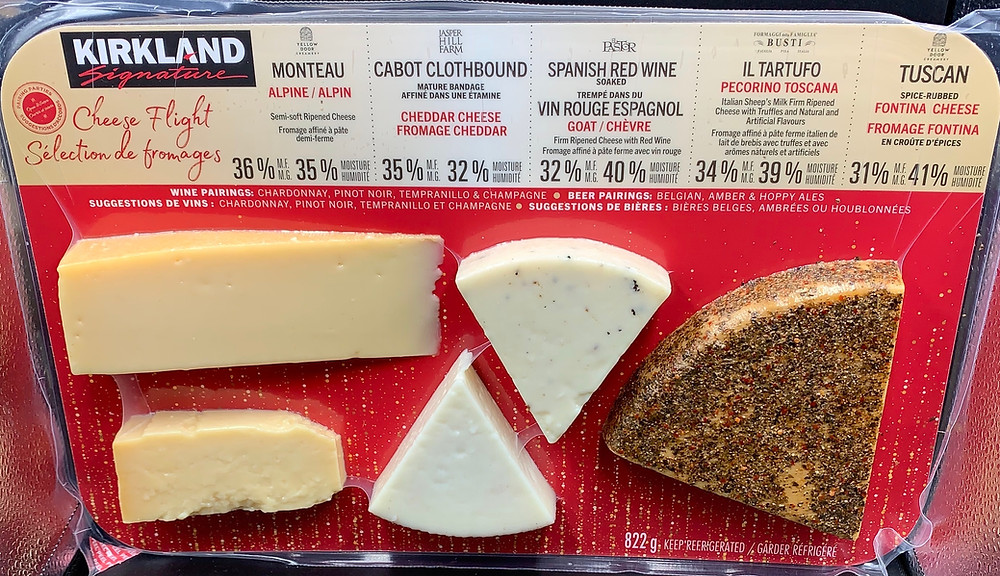 Costco Kirkland Signature Cheese Flight