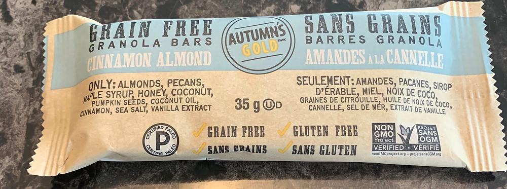 Costco Autumn's Gold Grain Free Granola Bars