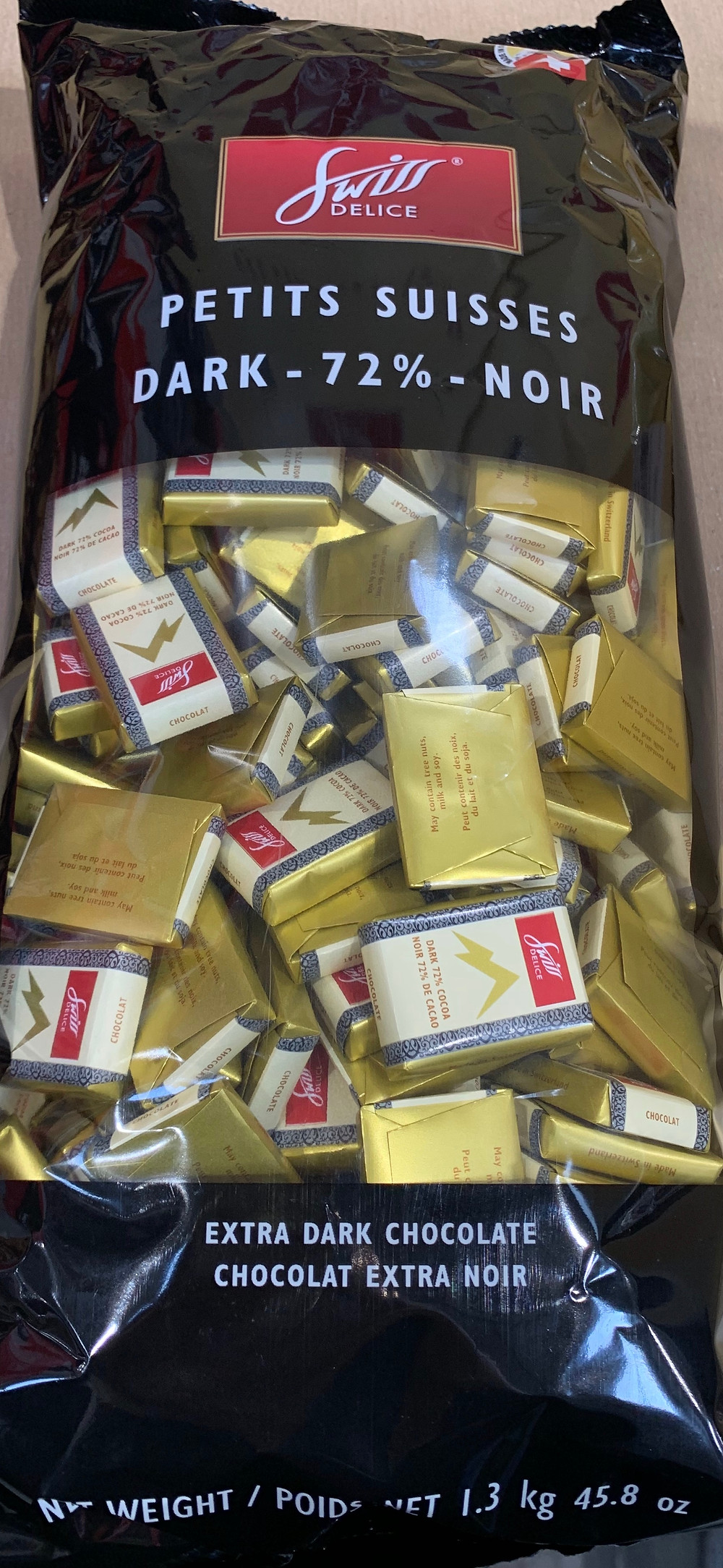 Costco Swiss Delice Petits Suisses Extra Dark Chocolate