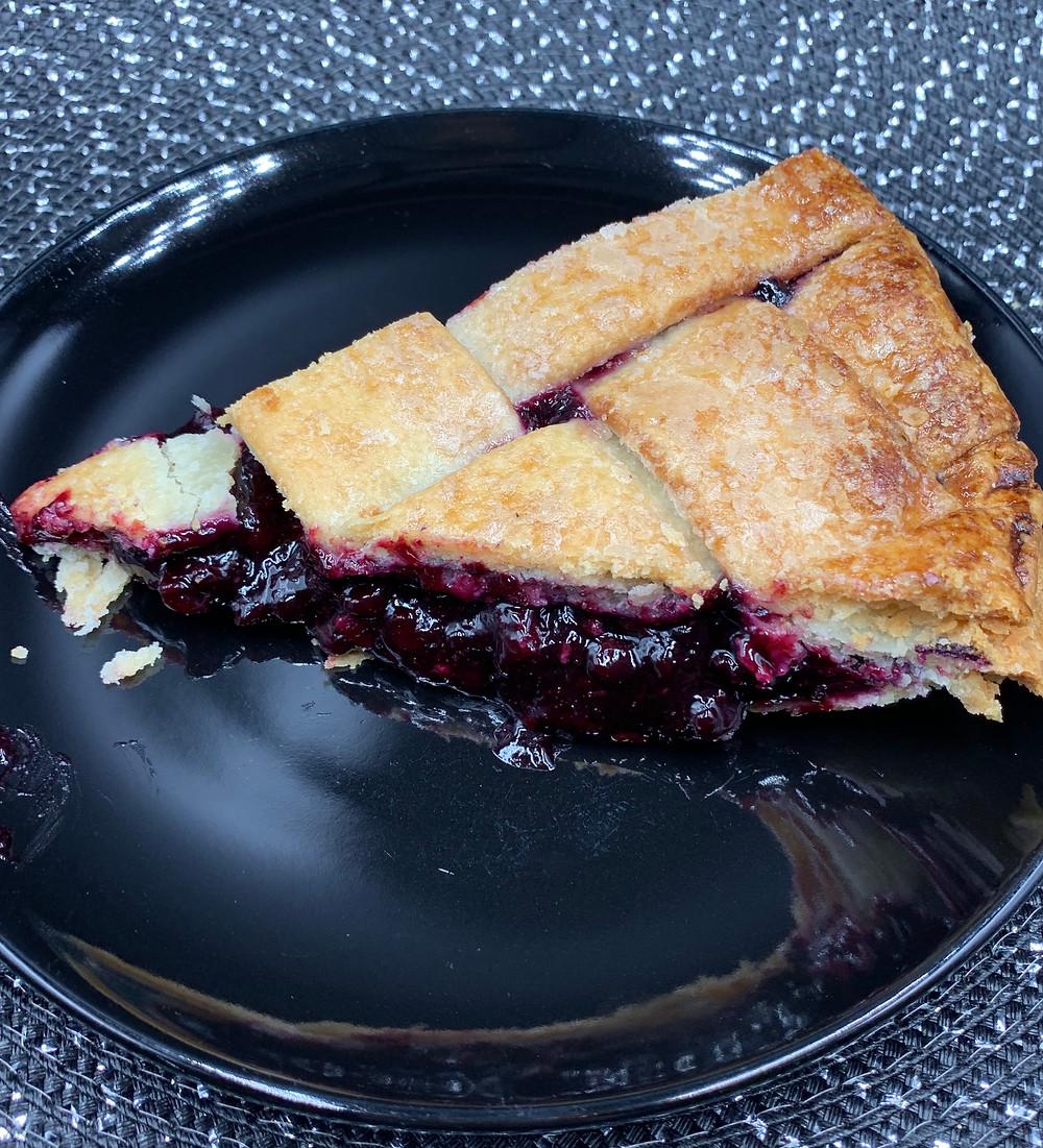 Costco Kirkland Signature Wild Blueberry Lattice Pie