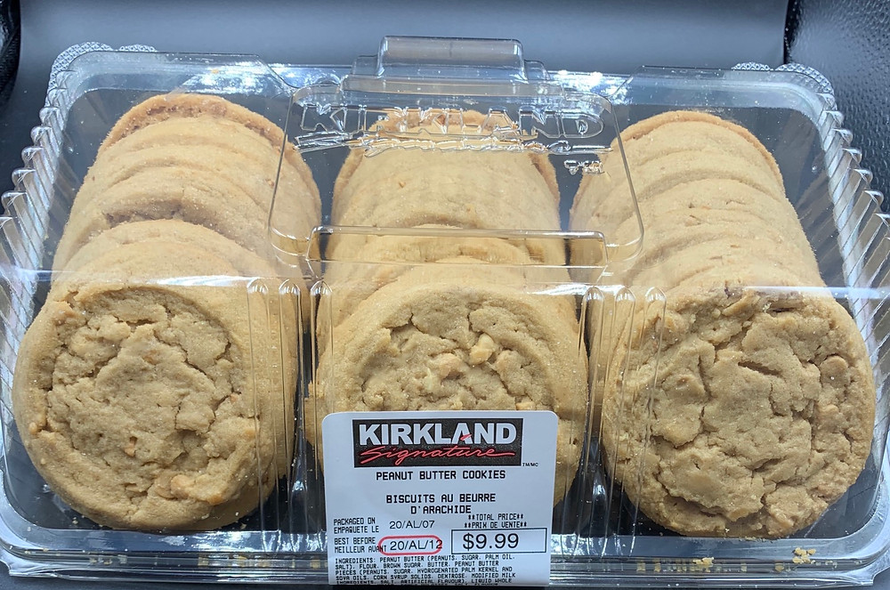 Costco Kirkland Signature Peanut Butter Cookies