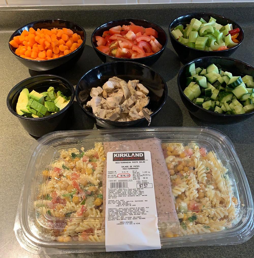 Costco Mediterranean Pasta Salad Bar