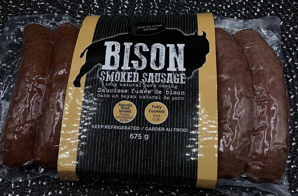 Prairie Creek Kitchen Bison Smoked Sausage
