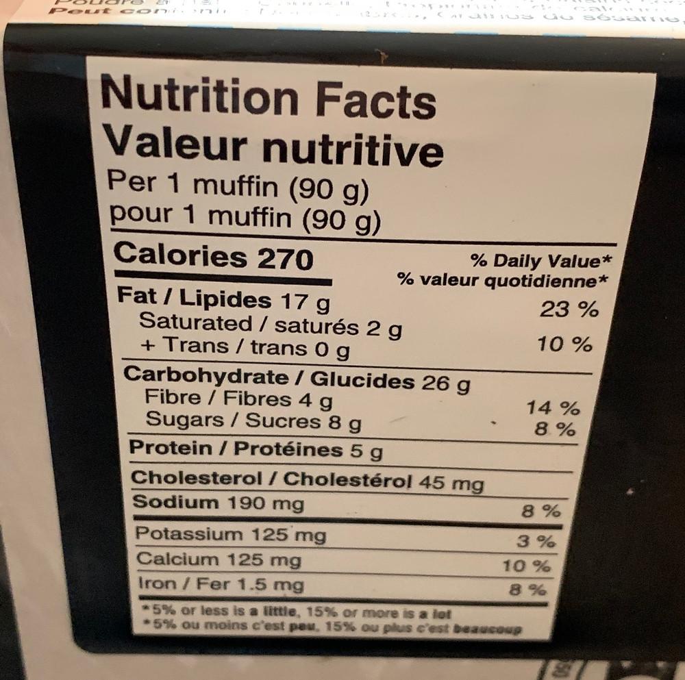 Costco Bread Garden Morning Glory Muffins Nutrition