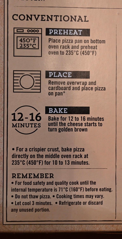 Costco Sabatasso's Pizza Cooking Instructions