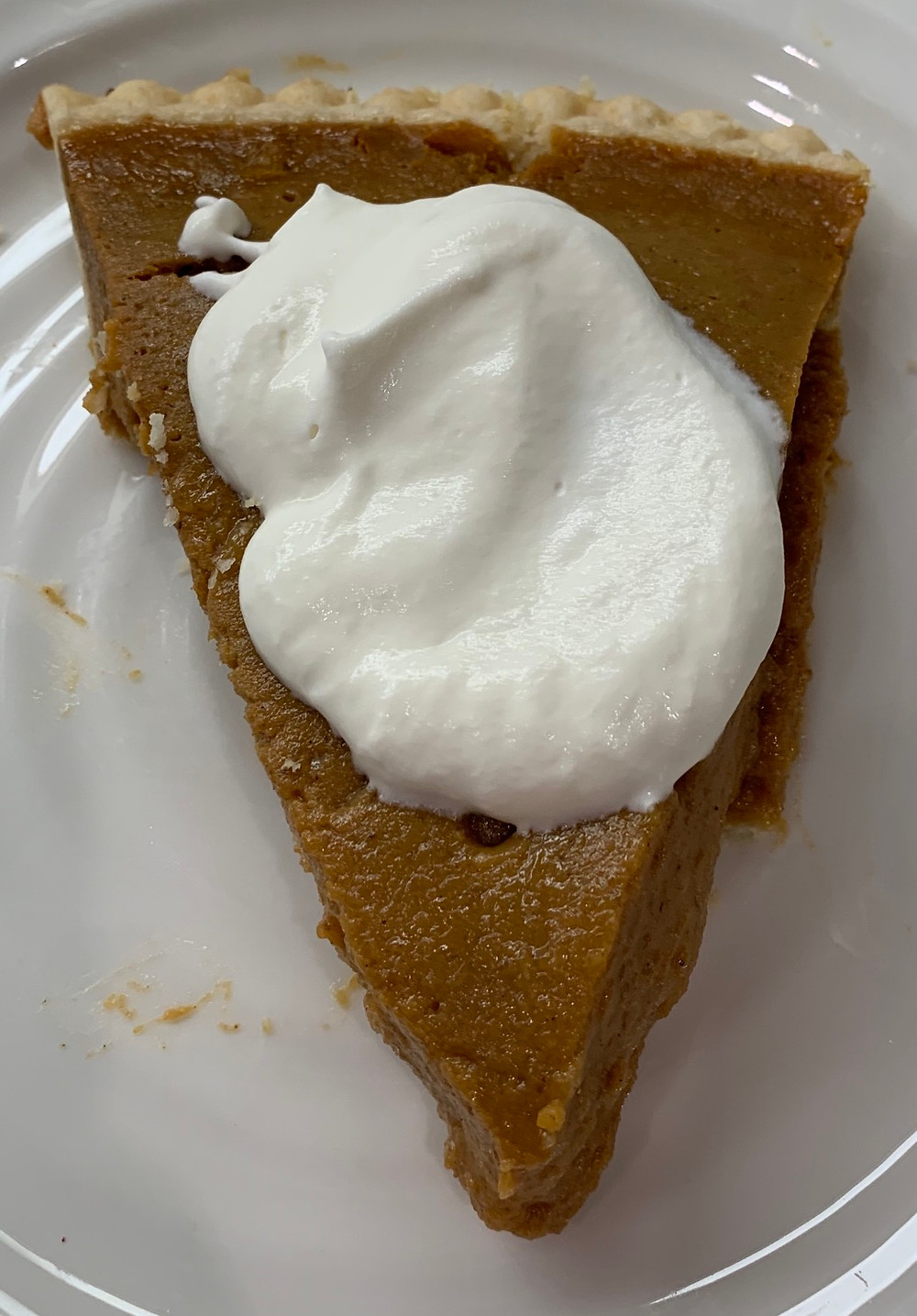 Costco Pumpkin Pie & Whipped Cream
