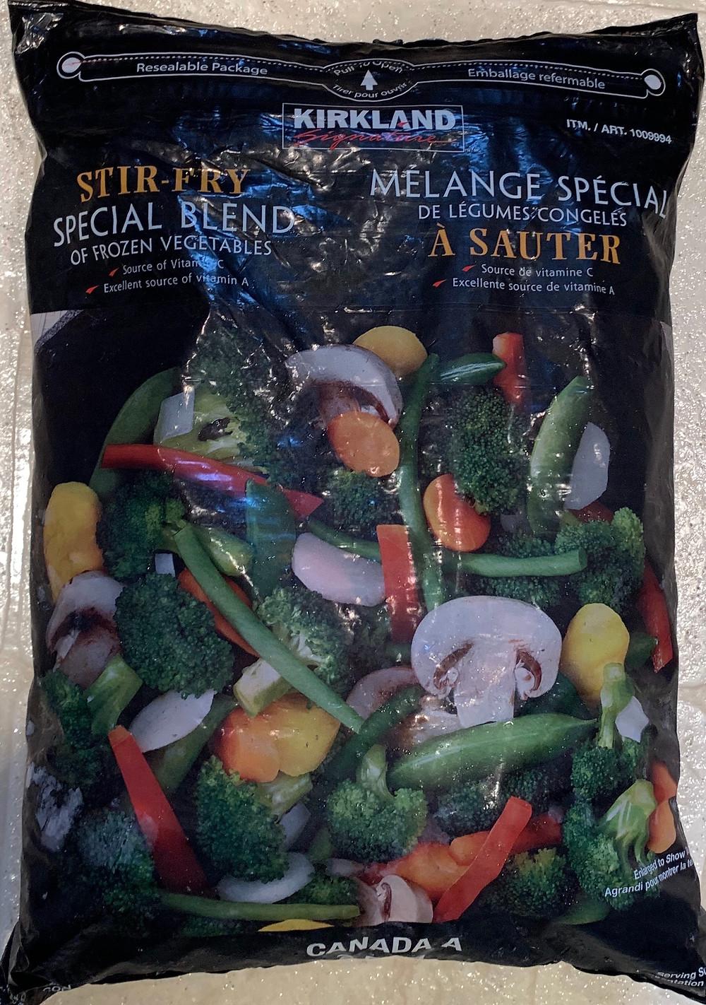Costco Kirkland Signature Stir Fry Frozen Vegetable Special Blend