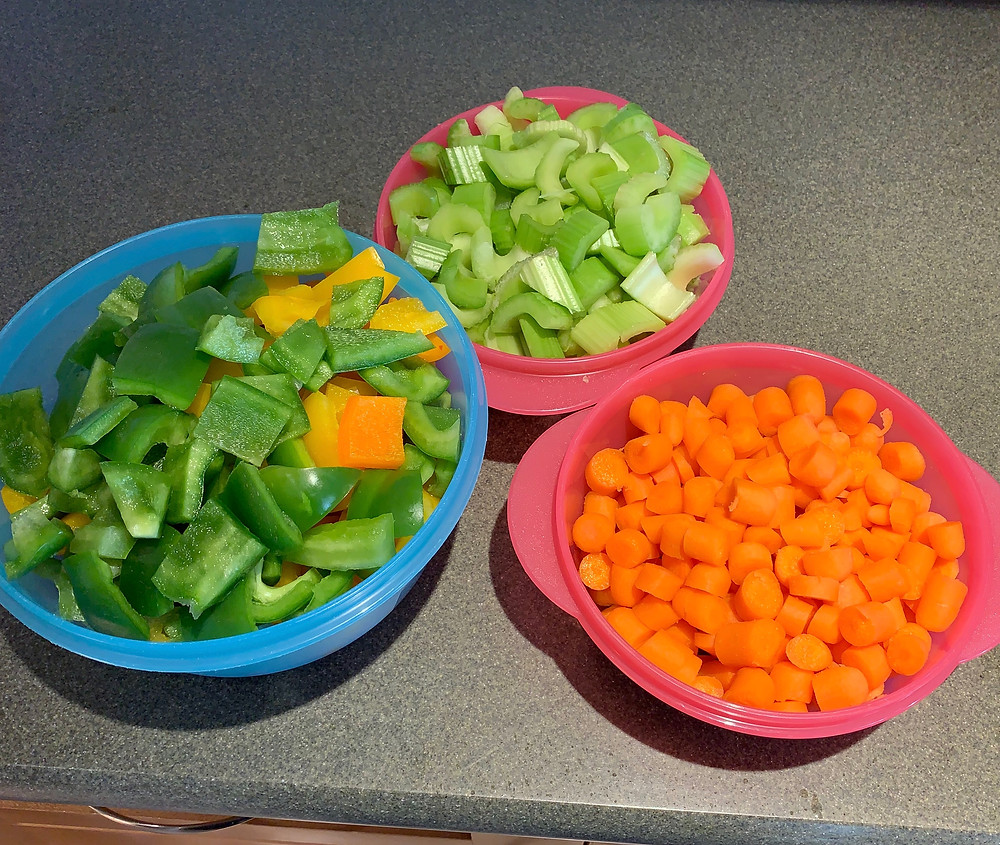 Cut up veggies for the week