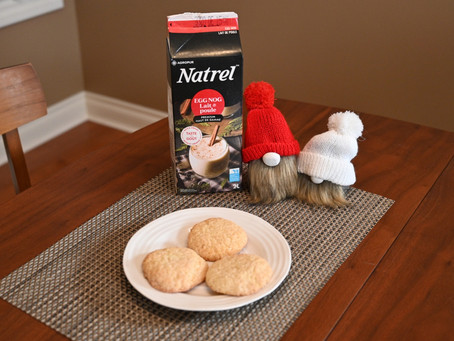 Egg Nog Cookie Recipe from Costco and Costco Natrel Egg Nog Review