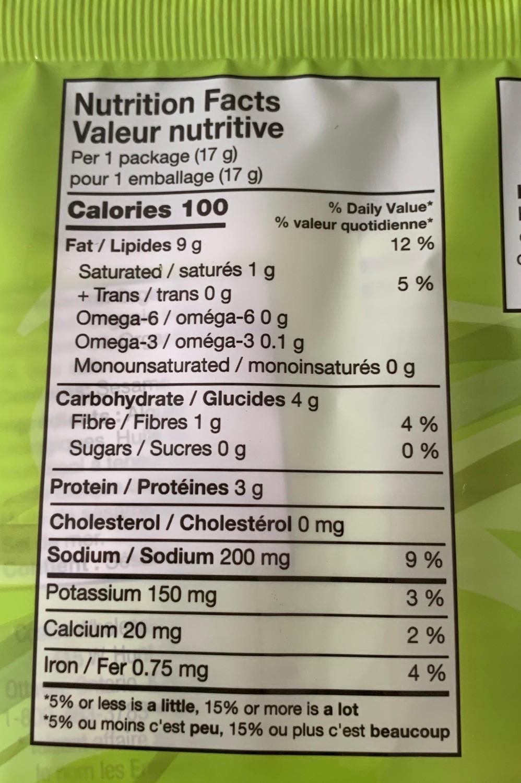 Costco Kirkland Signature Organic Seaweed Snack Nutrition