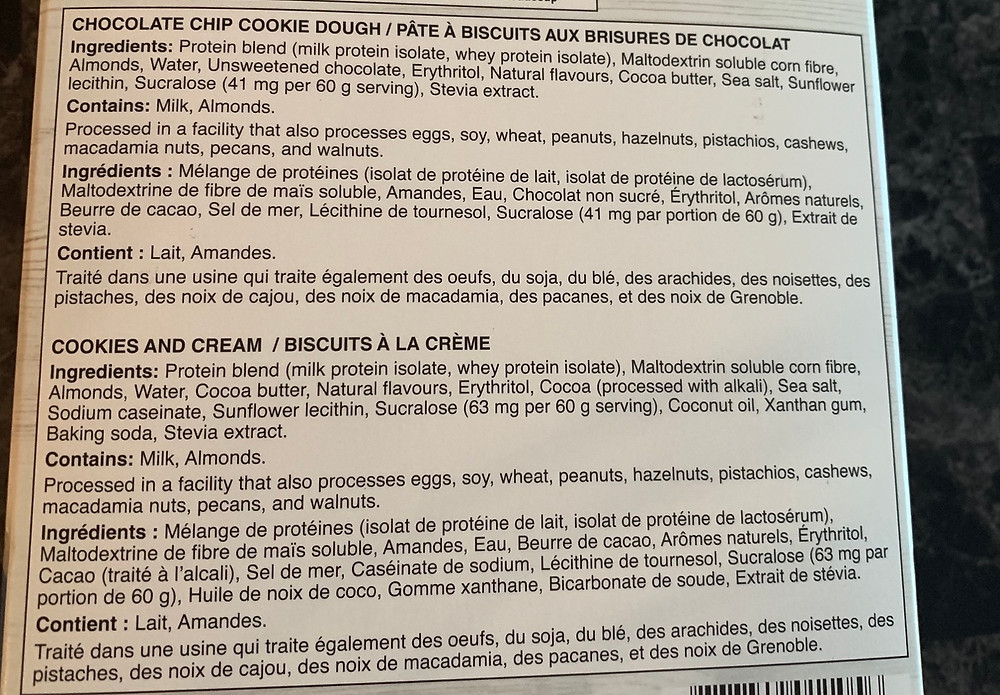 Costco Quest Protein Bars Ingredients