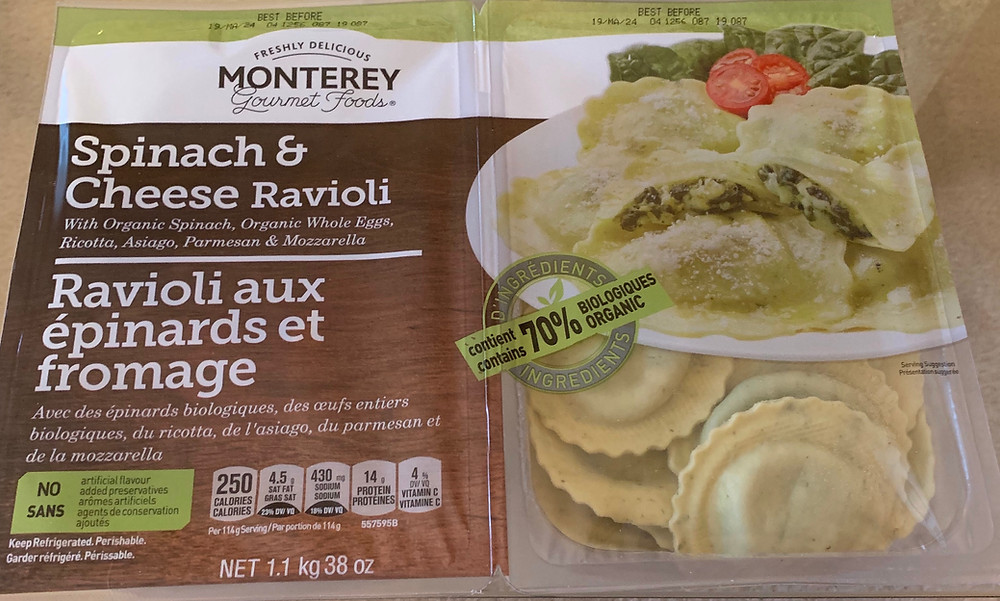 Costco Monterey Gourmet Foods Spinach & Cheese Ravioli