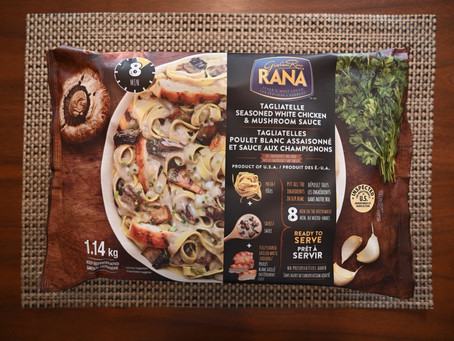 Costco Rana Tagliatelle, Seasoned White Chicken & Mushroom Sauce Review
