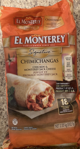 Costco El Monterey Signature Chicken & Monterey Jack Cheese Chimichangas