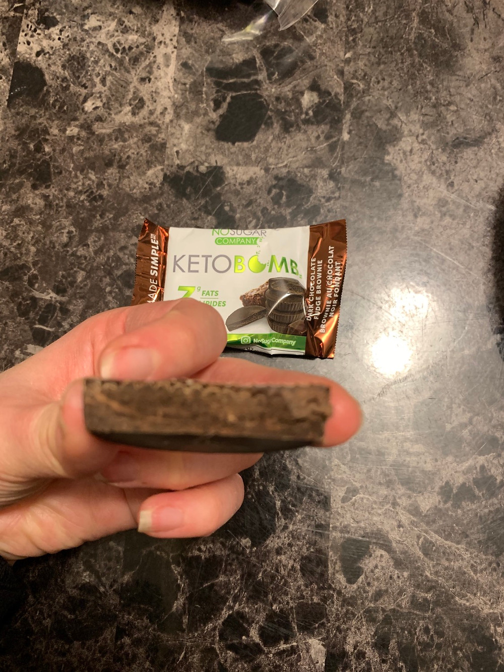 Dark Chocolate Fudge Brownie Keto Bomb