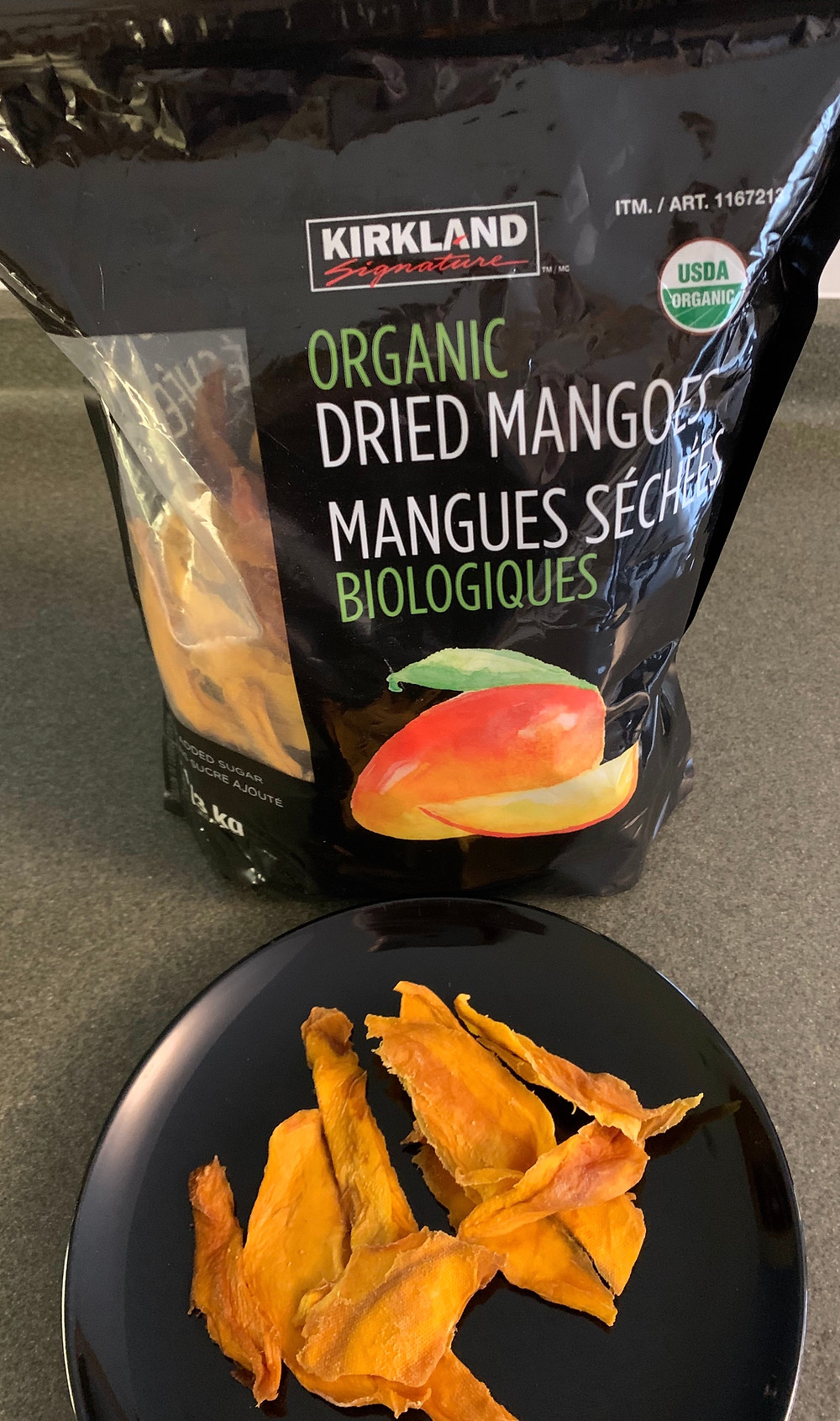 Costco Kirkland Signature Organic Dried Mangoes