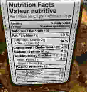Costco Aussie Bites Nutrition