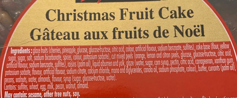 Costco Kirkland Signature Christmas Fruit Cake