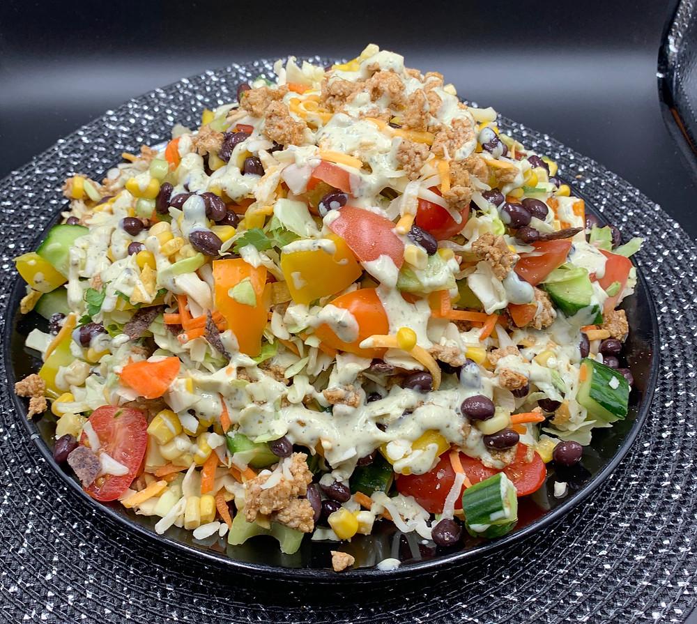 Taco Salad Using Costco Taylor Farms Baja Chopped Salad Kit