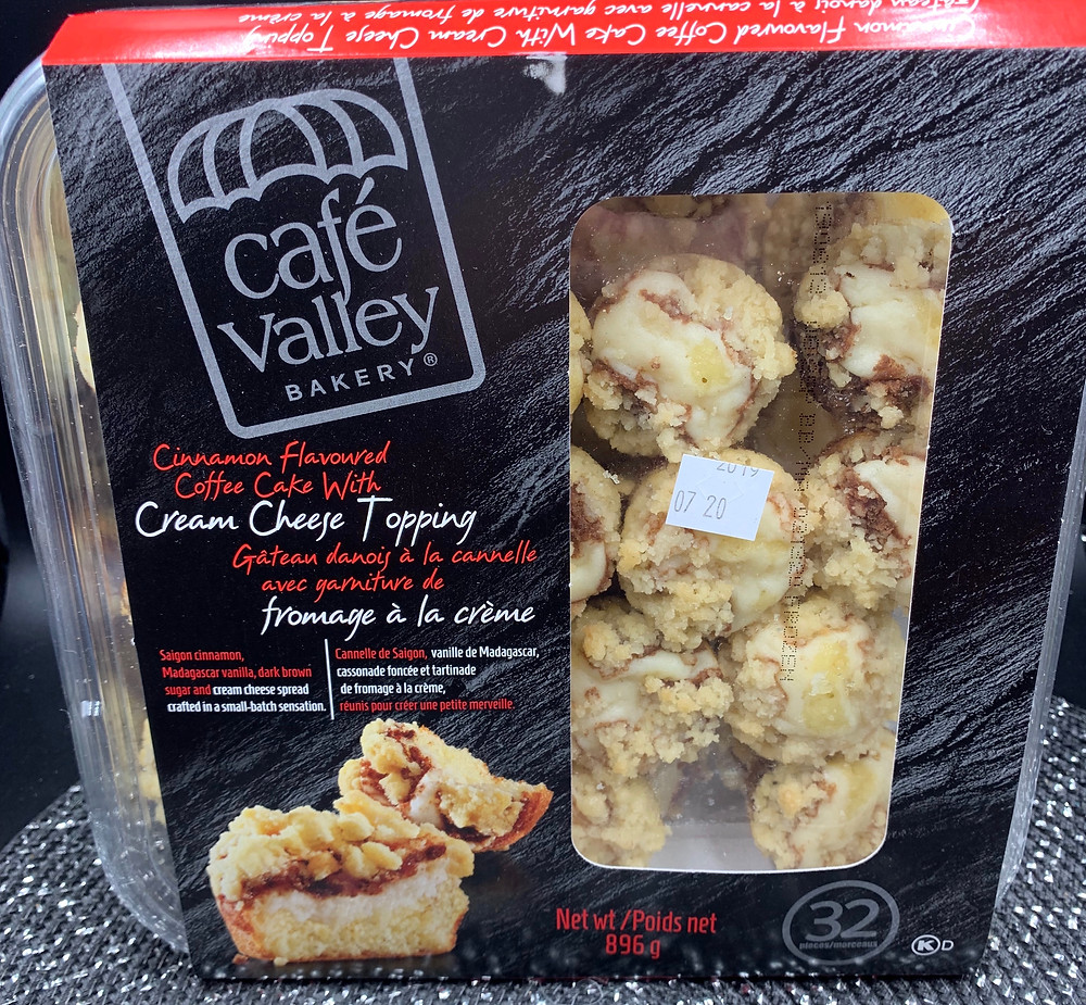 Costco Café Valley Bakery Cinnamon Flavored Coffee Cakes
