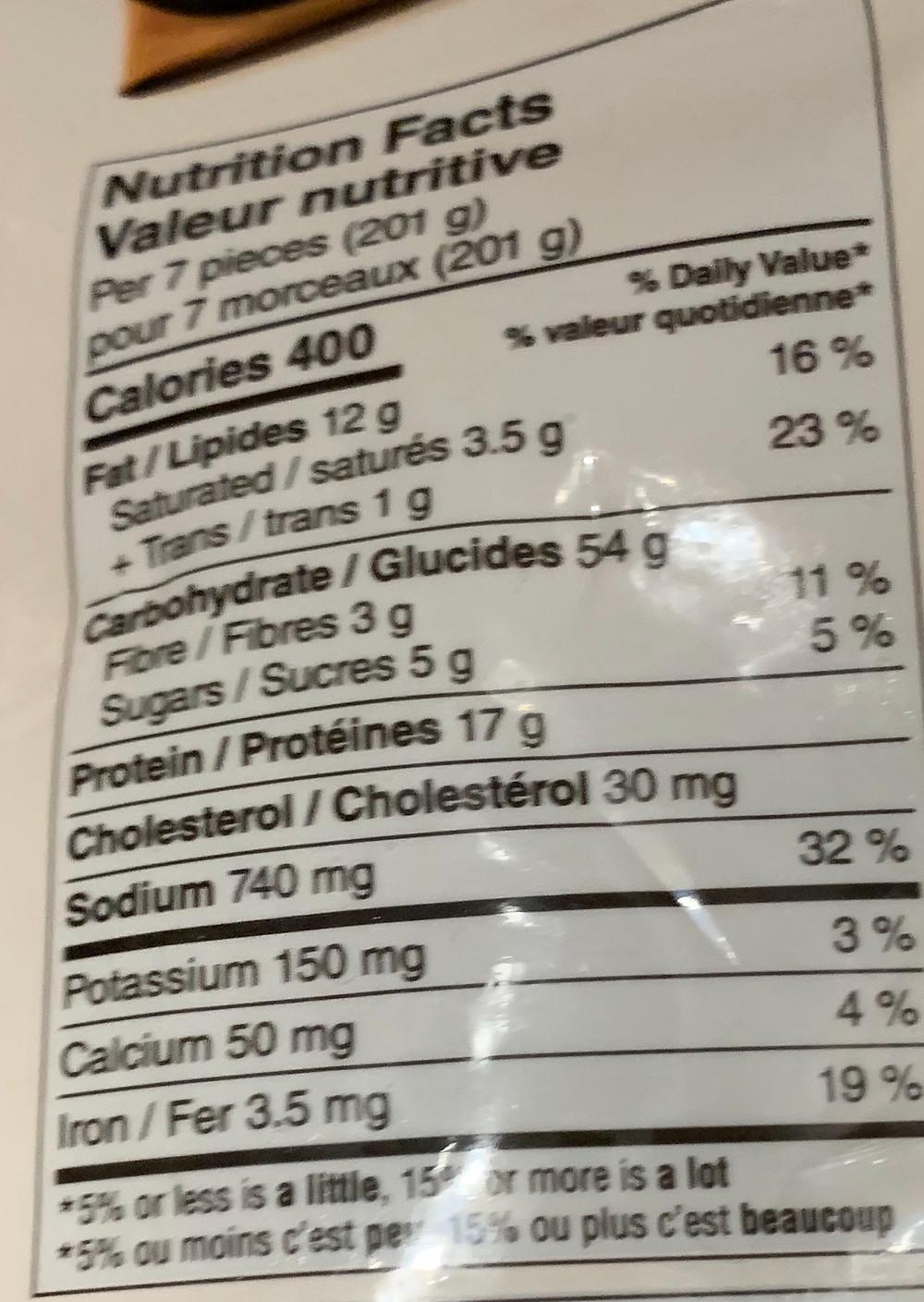Costco Bibigo Japchae Crispy Potstickers Nutrition