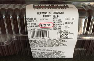 Costco Kirkland Signature Chocolate Muffin