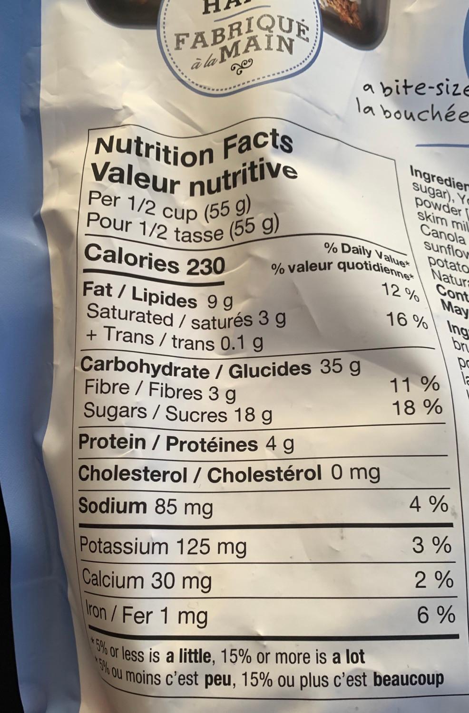 Costco Creative Snacks Co. Drizzled Granola Clusters Nutrition