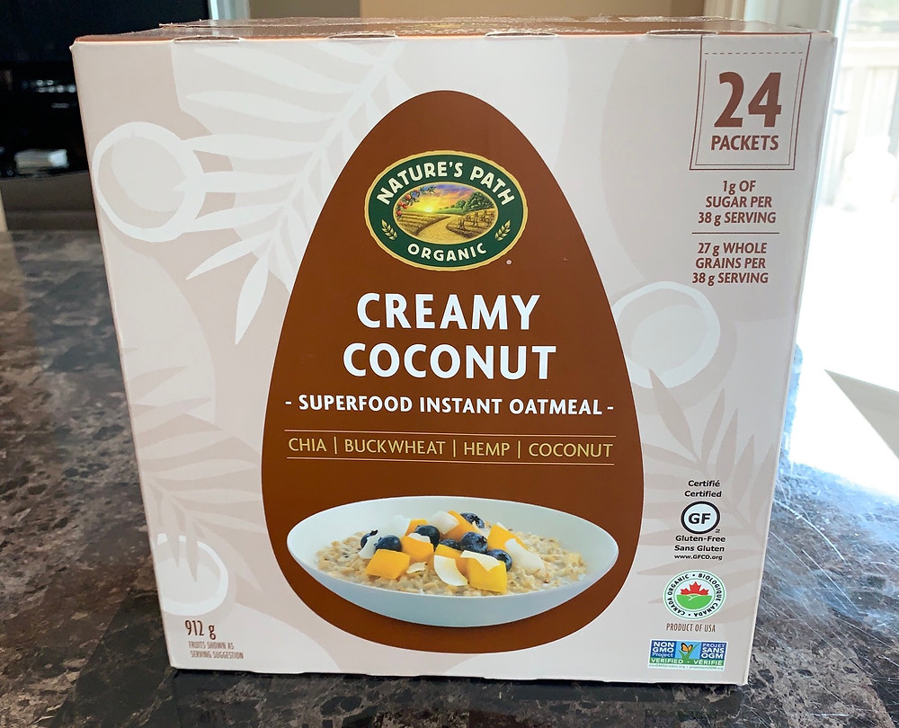 Costco Nature's Path Organic Creamy Coconut Superfood Instant Oatmeal