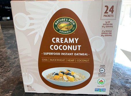 Costco Nature's Path Organic Creamy Coconut Superfood Instant Oatmeal Review