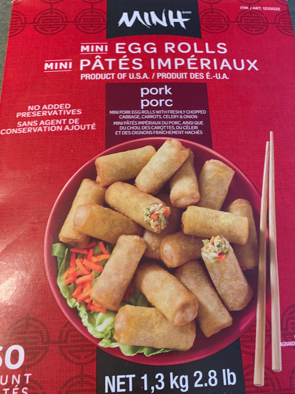 Costco Minh Mini Egg Rolls